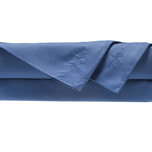 Rayon From Bamboo Bed Sheet Sets  Twin Sheet Set   Indigo